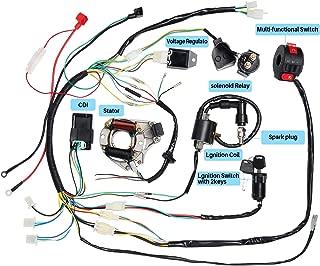 CISNO Complete Electrics Stator Coil CDI Wiring Harness for 4 Stroke ATV KLX 50cc 70cc 110cc 125cc