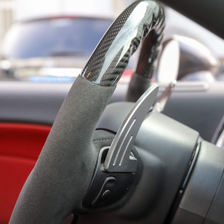 Voodonala for Challenger Charger Steering Wheel Shift Paddle Extension for 2015-2019 Dodge Challenger Charger Chrysler 300 Aluminum Blue Not Fit SRT
