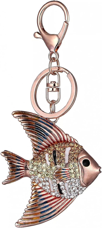 Tropical Fish Keyrings Keychain Enamel Philadelphia New products, world's highest quality popular! Mall Multicolour Crystal Goldf
