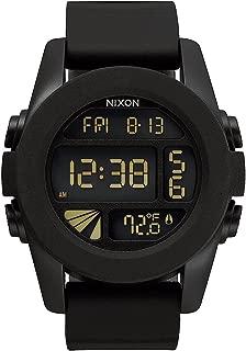 Nixon Unit Watch 44mm All Black LCD Display Thermometer