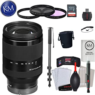 Sony FE 24-240mm f/3.5-6.3 OSS Lens with Advance Striker Bundle: Includes – SD Card Reader, 3pc Filter Set, Cleaning Kit, ...
