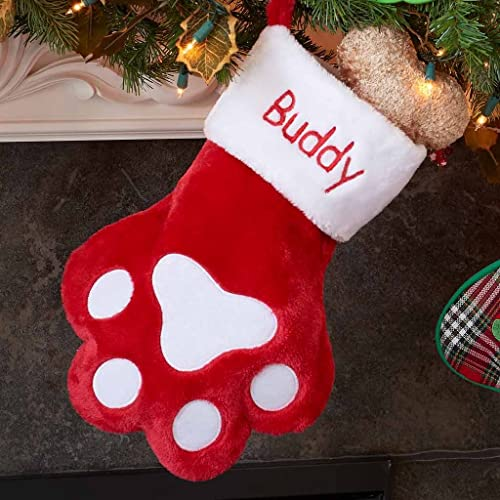 DIBSIES Personalization Station Personalized Dog Paw Christmas Stocking