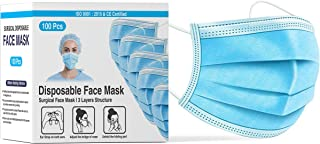 DALUCI 3Ply Disposable Nonwoven Fabric Face Mask With Nose Clip Certified by CE, ISO & GMP with Bacterial Filtration Effic...