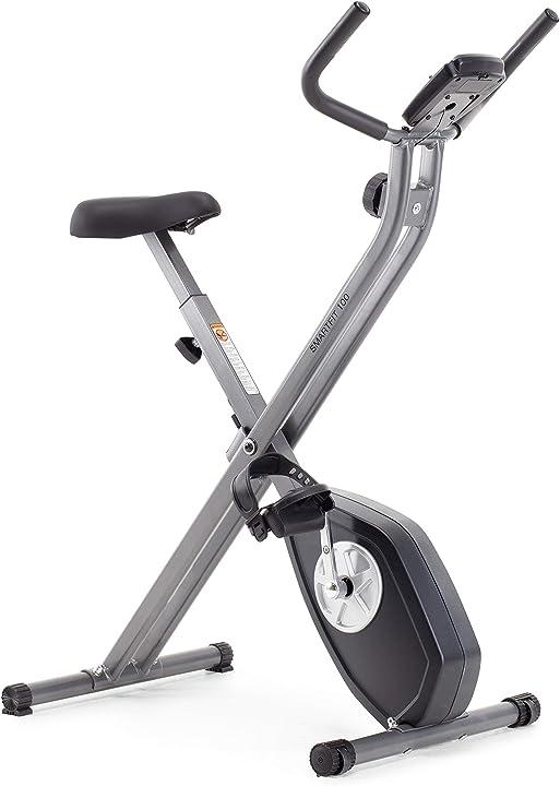 Cyclette pieghevole, unisex, nero e argento cadence smartfit 100 AMIEX69916