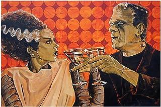 Black Market Art Made for Each Other by Mike Bell Bride of Frankenstein Martini Bar Art Print