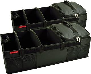 "Picnic at Ascot - Heavy Duty Trunk Organizer - No Slide Rigid Base -70 LB Capacity - 30"" x 15"" - Black - Pack of 2"