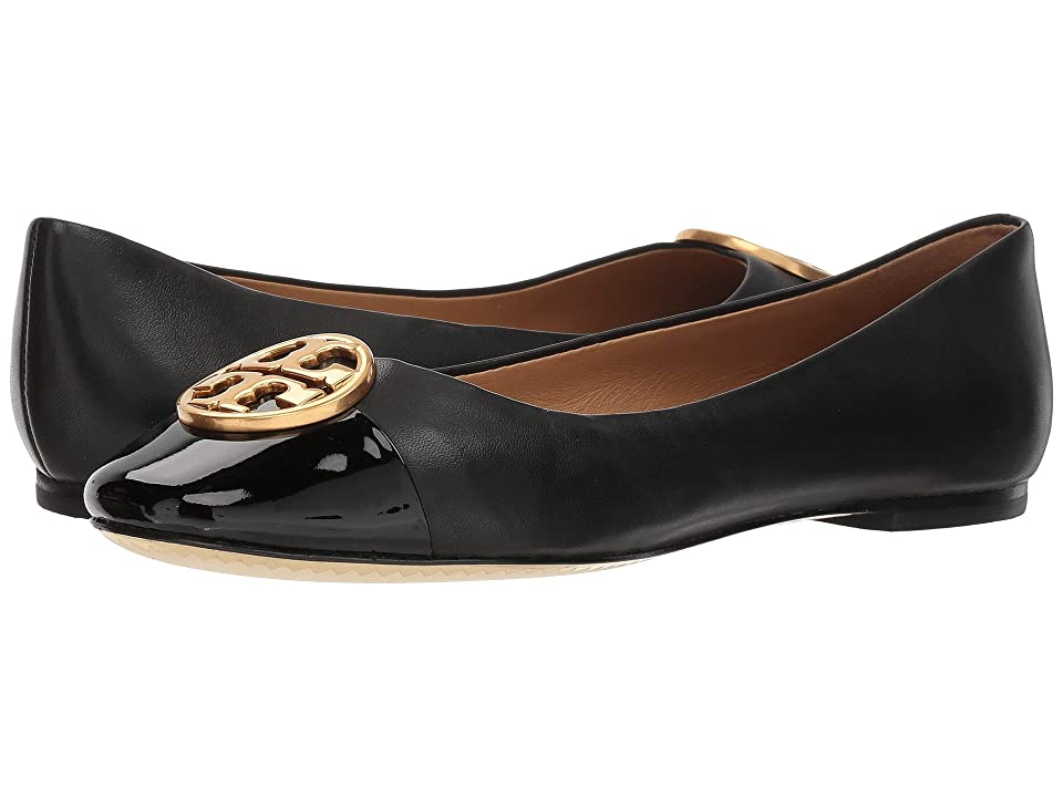 70c9f741edbc Tory Burch Chelsea Cap-Toe Ballet (Black Black) Women s Shoes
