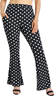 Weintee Women's High Waisted Bell Bottoms Flare Pants with Pockets