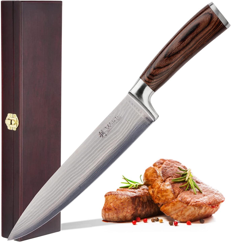 買物 Wakoli 爆買い新作 Damascus kitchen knife 13-inch steel - Japanese