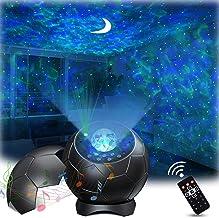 Lupantte Sterrenhemelsprojector, Nebula Galaxy Projector met rustgevende Aurora-effecten, met maan- en geluidsgeactiveerd,...