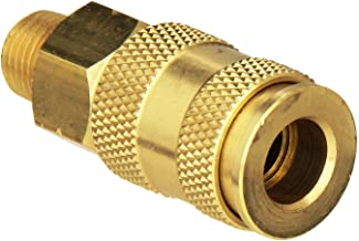 Milton Industries S-765 HI-Flo V-Style -FeetA,M,V-Feet 1/4-Inch MNPT Brass Body, Single