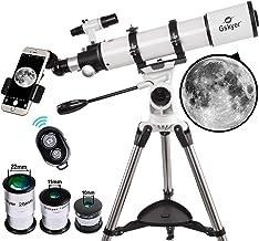 Gskyer Telescope, Telescopes for Adults, 600x90mm AZ Astronomical Refractor Telescope,Telescope for Kids,Telescopes for Ad...