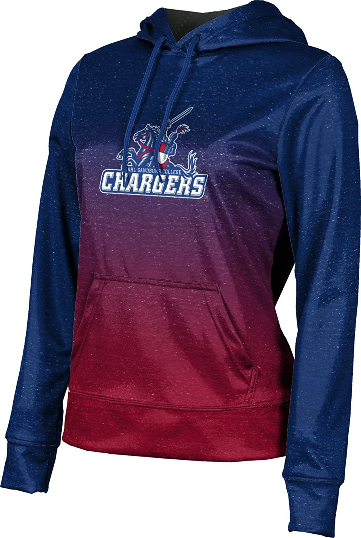 ProSphere Carl Sandburg College Girls' Pullover Hoodie, School Spirit Sweatshirt (Ombre)