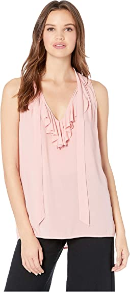 Ruffle Front Sleeveless Top