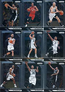 2018-19 Panini Prizm Basketball San Antonio Spurs Team Set (Veterans) 9 Cards: Rudy Gay(#3), Pau Gasol(#13), Patty Mills(#23), David Robinson(#195), Tim Duncan(#225), Dejounte Murray(#261), DeMar DeRozan(#271), Manu Ginobili(#281), LaMarcus Aldridge(#291)