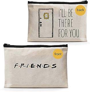 Ihopes Friends Quotes Canvas Zipper Pouch   Friends TV Show Merchandise Pencil Case/Pencil Pouch/Pen Organizer Bag Gifts f...
