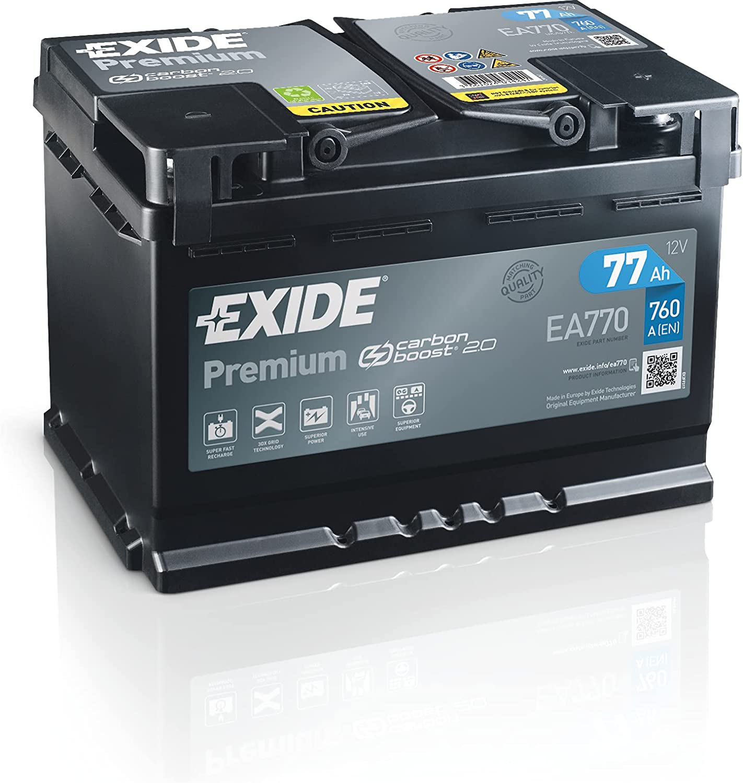 Exide EA770-L3 Premium Batería de Arranque, 12V, 77Ah