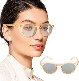 Anti Fog Safety Glasses Tinted UV400 Protective Glasses, Side Shields Eye Protection Googgles, Blue Light Blocking Glasses...