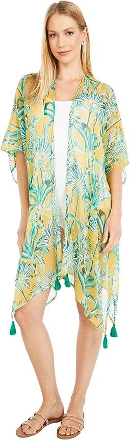 Palm Toile Kimono