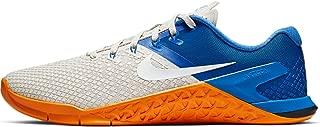 Men's Metcon 4 XD Training Shoes (11.5, Light Bone/Game Royal/Orange Peel/White)