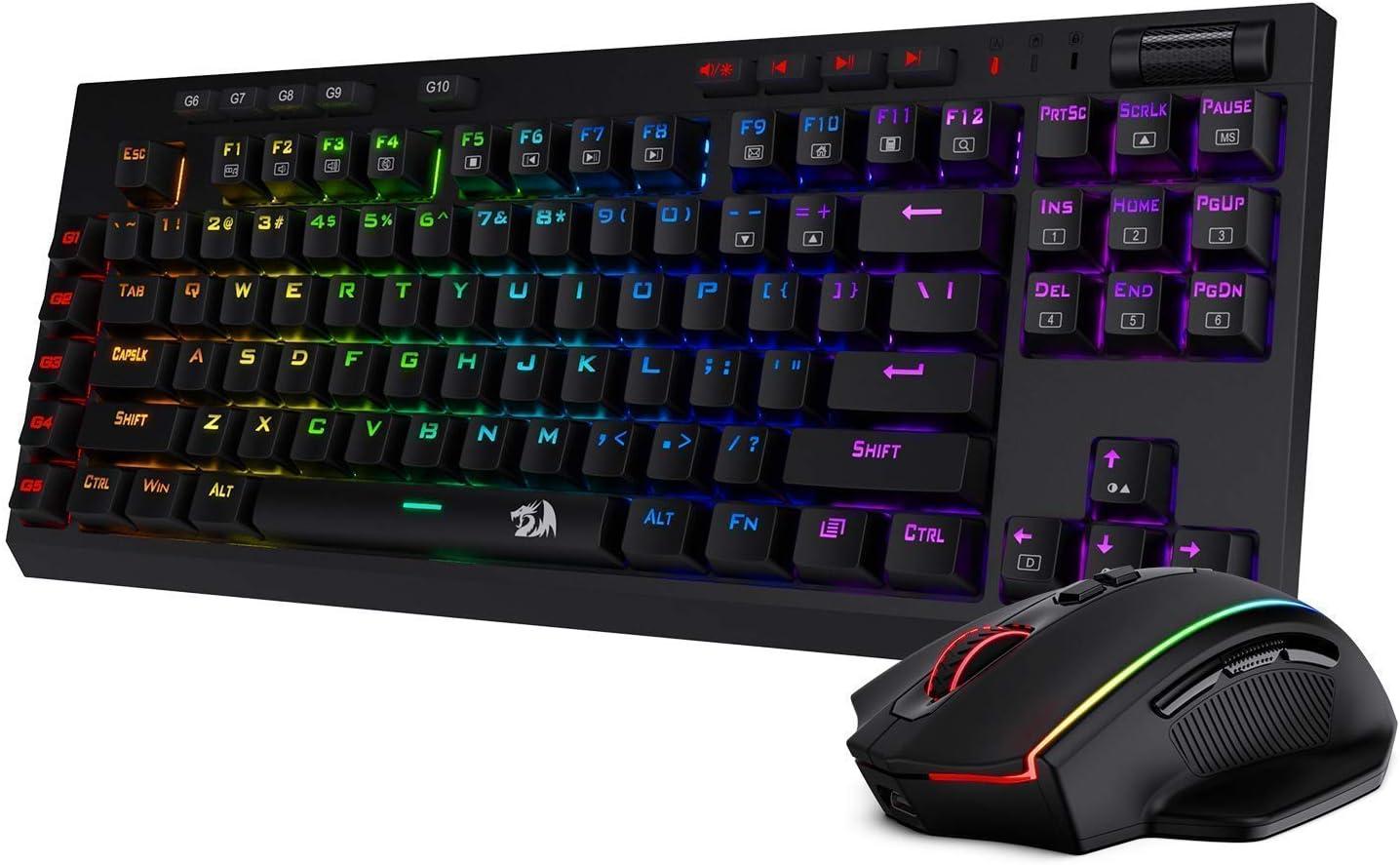 Redragon K596 Wireless Mechanical Gaming Keyboard M686 Wireless Gaming Mouse Bundle