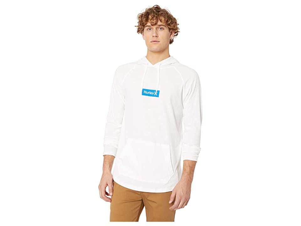 Hurley Premium One Only Box Pullover (White/Royal Blue) Men