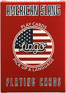American Slang Playing Cards - Lingo Playing Cards   Language Learning Game Set   Fun Visual Flashcard Deck to Increase Vo...