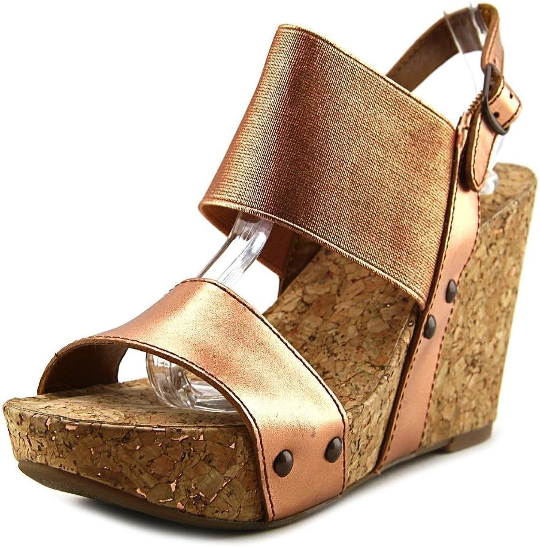 Lucky Brand Mumbah Women US 9 Bronze Wedge Sandal