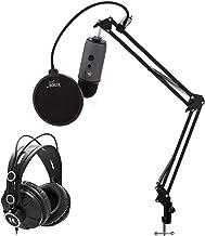BLUE Microphones Yeti Slate USB Microphone Bundle with Knox Studio Stand, Studio Headphones and Pop Filter (4 Items)
