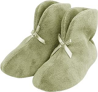 Women's Bootie Slippers, Winter Warm Cozy Coral Fleece Non Slip Indoor House Shoes
