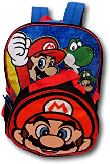 Nintendo Mario Backpack With Shaped Mario Head Lunch Box Backpack Set