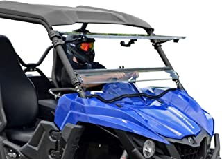 SuperATV Heavy Duty Scratch Resistant 3-IN-1 Flip Windshield for Yamaha Wolverine (2015+) - Does NOT Fit X2 or X4 Models - Has 3 Different Settings!