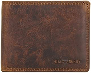 Genuine Leather Wallets for Men Handmade Bifold Wallet ID Card Holder with coin pocket Hill Burry Manila