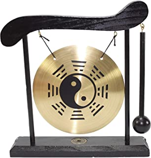 Zen Table Gong Taiji Symbol Feng Shui Meditation Desk Bell Home Decor Housewarming Congratulatory Blessing Gift US Seller