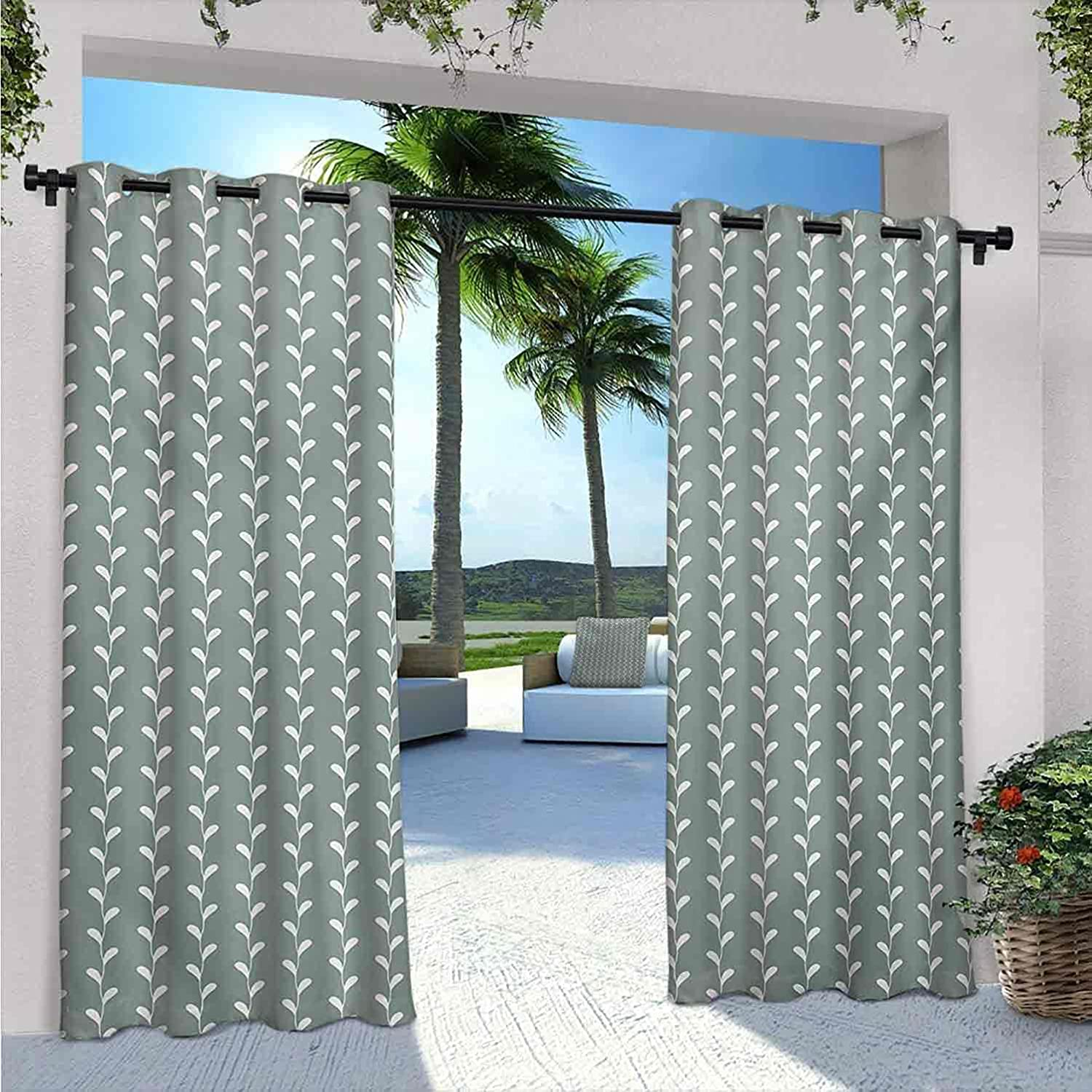 Abstract Outdoor Patio New color Direct store Curtains Vintage w Classic Wavy Branches
