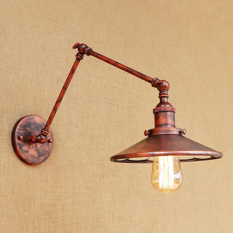 CHEYAL Moderne Vintage Wandlampen Rustikale Land Montiert Wand Schlafzimmer Treppe Lampen Wandleuchten Zimmer Schlafzimmer Antike Nachttisch Teleskopische Dekorative Wandleuchte,B