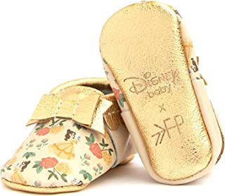 Soft Sole Leather Bow Moccasins - Disney Princess Baby Girl Shoes - Infant Sizes 1-5