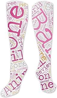 Compression Socks For Women Men Chinese Pattern Nursing, Travel & Flight Socks