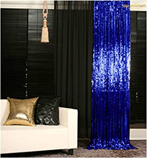 Sequin Curtains 2 Panels Royal Blue 2FTx8FT Sequin Photo Backdrop Sequin Backdrop Curtain Pack of 2-1011E