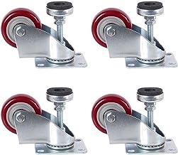 4 stks Meubilair Casters Medium Aanpassing Ondersteuning Polyurethaan Caster Elektrische Steiger Trolley Industrial Wheel ...
