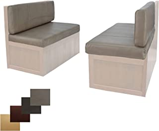 RecPro Charles RV Dinette Booth Cushions with Memory Foam Camper Trailer Bed (Putty, 36