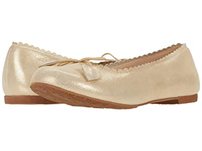 Elephantito Scalloped Ballerina (Toddler/Little Kid/Big Kid) (Suede Gold 1) Girls Shoes