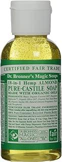 Dr. Bronner, Liquid Soap, Almond, Travel Size, 2 oz