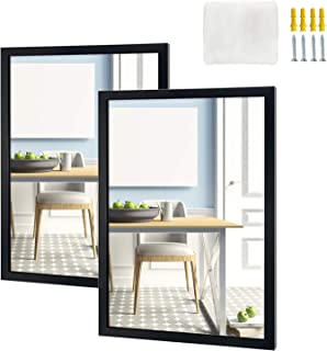 Eono Amazon Brand Lot de 2miroirs muraux rectangulaires, pour Salle de Bain, Toilettes, Chambre et Salon, 40,6x50,8cm,...