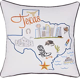 DecorHouzz Pillow Covers State/City Map Pillowcase embroidered cushion cover Birthday Gift Anniversary Gift Graduation Gift New home Gift 18