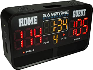 Sponsored Ad - Gametime Digital Sports Scoreboard Indoor & Outdoor - App Controlled with WiFi, Rechargeable, Portable & We...