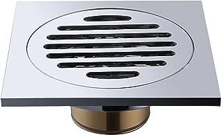 Floor Drain, Frascio Brass Bathroom Tile Insert Floor Drainer with Removable Strainer Cover Chrome Finish Anti-clogging for Kitchen, Washroom, Garage and Basement(4