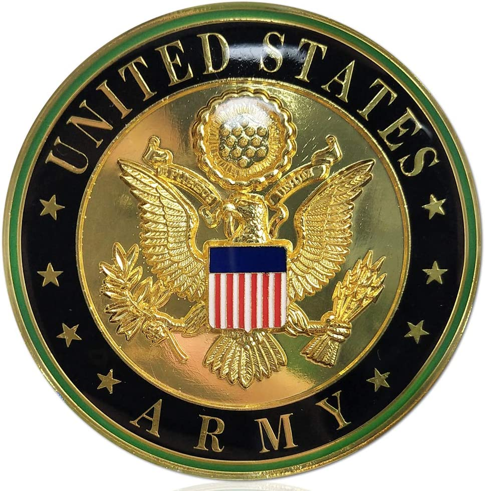 U.S. Army Metal Max 70% OFF Auto Decal Car Ranking TOP15 Coin Military Challenge Ve Emblem