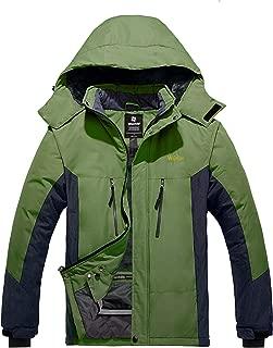 Men's Mountain Jacket Waterproof Winter Ski Coat Windproof Outerwear