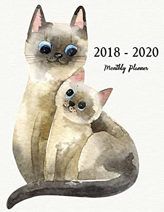 2018 - 2020 Monthly Planner: Planner 3 year monthly planner, Monthly Schedule Organizer - Agenda For The Next 3Years, 36 Months Calendar, Appointment Notebook, Journal: Volume 1